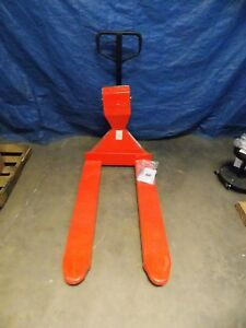 Vestil Pallet Truck W Scale 5000 Lb Capacity 7 1 2 Lift Height pm 2748 scl lp