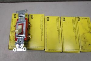 Hubbell 1221i Toggle Switch Lot Of 5