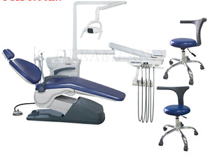 Dental Chair Delivery Unit Upgraded Hand Sewn Fancy Stitched Leather 2 Stools