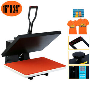 16x24 Digital Lcd Clamshell Heat Press Transfer Sublimation Machine For T shirt