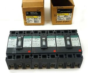 Ge Industrial Ted134020wl 3 Pole Circuit Breaker 20 Amp 480 600 Ac 500 Dc Volt