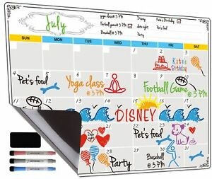 Jancosta Magnetic Calendar Planner Dry Erase White Board For Fridge Monthly