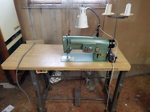 Consew 199r Industrial Commercial Sewing Machine W Table Clutch Motor