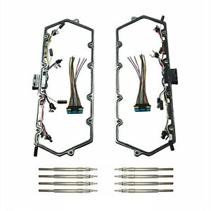 For 7 3l Ford Powerstroke 99 03 Valve Cover Gaskets With Harness Glow Plug Set
