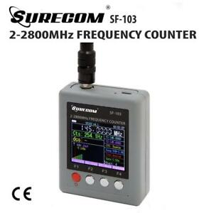 Surecom Sf 103 Portable Frequency Counter 2mhz 2 8ghz W Tft Color Display _us