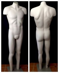 Headless Full Body Male Mannequin With Base Vintage Jcpenney Retail Display
