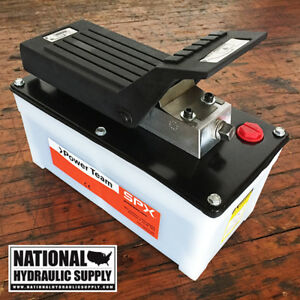 Power Team Pa6 Air Hydraulic Pump spx portable 1 speed single acting 10 000 Psi