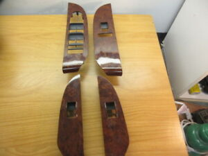 07 08 09 Yukon Tahoe Escalade Sierra Silverado Window Switch Wood Grain Set