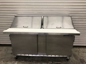 60 2 Door Mega Top Refrigerated Sandwich Prep Table Beverage Air Sur60 24 9263