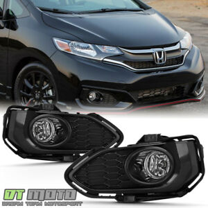 For 2018 2019 Honda Fit Bumper Fog Lights Driving Lamps W switch Kit Left right