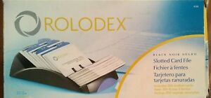 New Unused Rolodex 67262 Covered Business Card File W 200 Cards