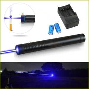 High Power 450nm Adjustable Focus Blue Laser Pointer With Battery