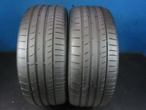 2 Used Continental Contisportcontact 5 Mo 225 40 18 7 8 32 7 8 32 Tread 1909d