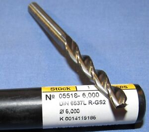 Brand New Guhring 3 Flute Carbide Drills 6 Mm Dia 2 Pcs Available