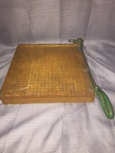 Vintage Rare R h s Trimmer No 12 Paper Cutter Trimmer Really Old