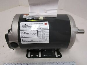 Emerson D3e1dhz Industrial Electric Reversible Ac dc Motor 3 Hp 208 230 460 Volt