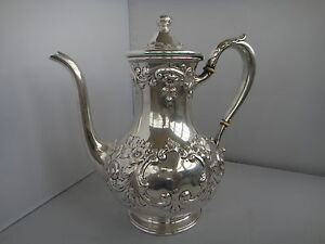 Sterling Repousse Coffee Pot International Silver Co