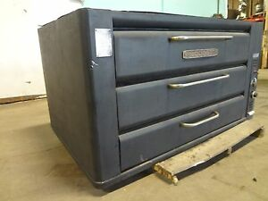 H d Commercial Double Stacked blodgett Natural Gas Pizza Oven W Stone Decks
