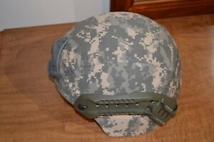 Gentex TBH-II (ACH) Large w ACU helmet cover with Ops Core Arc rails and shroud