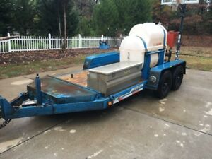 Ditch Witch Trailer With Mud Mixer And Water Tank