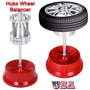 Portable Hubs Wheel Balancer W Bubble Level Heavy Duty Rim Tire Cars Truck