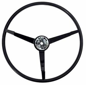 1965 1966 Ford Mustang 15 3 spoke Black Steering Wheel