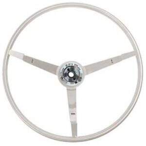 1965 1966 Ford Mustang 15 3 spoke Steering Wheel White