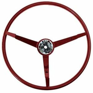 1965 1966 Ford Mustang 15 3 spoke Steering Wheel 1966 Red