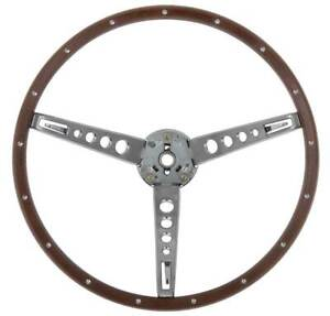 1965 1966 Ford Mustang Deluxe Woodgrain Steering Wheel
