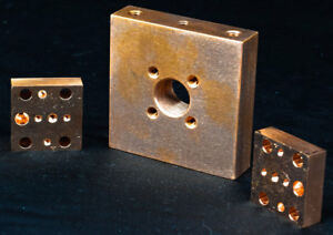 Lot Of 3 Coherent Dilas Industrial Copper High Power Laser Diode Bar Base Units