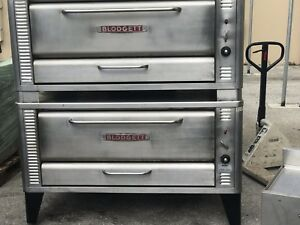 Used Blodgett 1048 Double Gas Double Deck Pizza Bake Oven