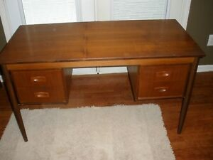 Mid Century Teak 4 Drawer Desk All Original