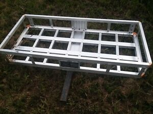 Aluminum Cargo Carrier Luggage Rack Bumper 2 Hitch Mount Pick Up Only
