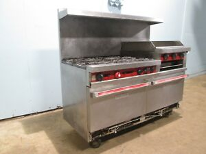vulcan 260l 587 Hd Commercial Nat Gas 6 Burners Stove W griddle