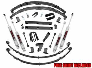 Rough Country 4 Suspension Lift Kit For 87 95 Jeep Wrangler Yj power Steering