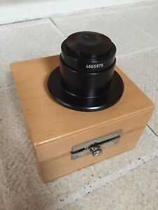 Zeiss Oem Darkfield Condenser Oil Immersion 4665975 With Wooden Box