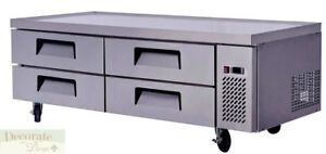 Chef Base Work Food Prep Table 72 Refrigerated 4 Drawer All Stainless Steel New