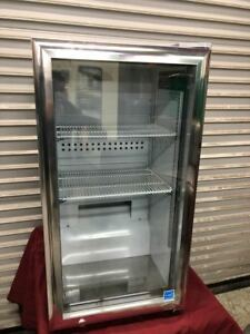 New Glass Door Counter Top Drink Display Cooler Refrigerator Led Idw Gs 3 9235