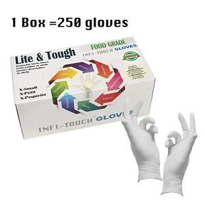 250 box nitrile Gloves Disposable Food Safe Medical Xs xl Fast Ship