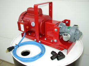 New 1 Hp Waste Oil bulk Oil Transfer Pump 20 Gpm for Air Compressors generators