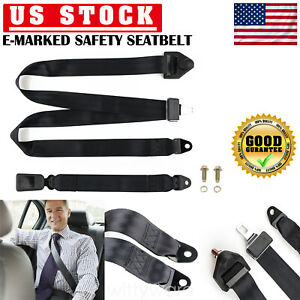 2 Universal 3 Point Seat Belt Straps Non Retractable Auto Car Seat Belt Laps Us