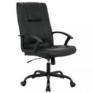 Office Chair Executive Desk Rolling Swivel Chair With Lumbar Support Headrest