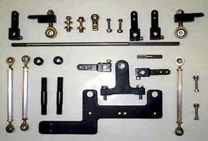 Blower Linkage Kit For Dual 4150 4500 Carbs Sideways On Superchangers