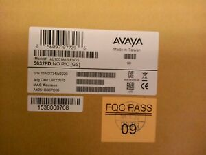 Avaya Switch Versions Federal Taa Ethernet Routing Switch 5632fd Al1001a15 e5gs