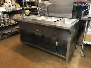 60 Stainless Steel Steam Table 4 Wells Natural Gas Used
