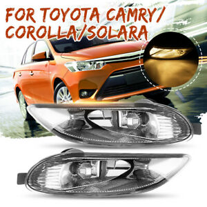 For 2005 2008 Toyota Corolla 02 03 Solara Camry Front Bumper Lamps Fog Lights