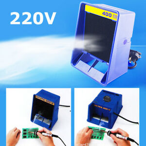 220v Portable Soldering Smoke Absorber Fume Extractor Fan 2x Air Filter Sponge