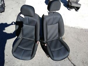 16 17 18 Nissan Sentra Front Black Cloth Bucket Seats Blue Stitching Hot Rod Oem