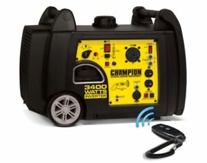 Champion 3400 Watt Gas Portable Gasoline Generator Inverter Super Quiet Remote