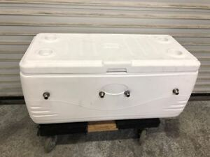 4 Tap Draft Beer Ice Chest Keg Cooler Coleman 9281 Tailgating Remote Kegerator